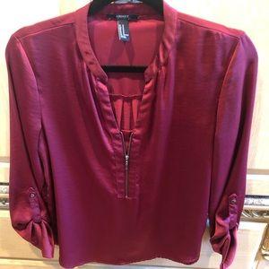 Silky maroon blouse